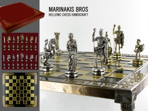 Marinakis Bros, szachy - Romans Chess Set